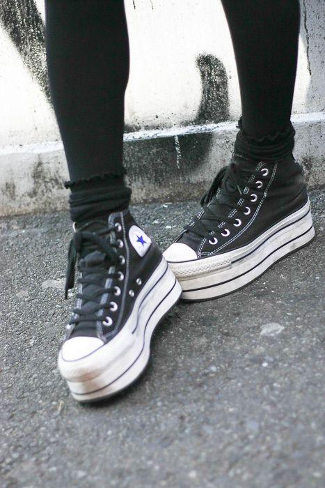 Chuck Taylors creeper shoes.