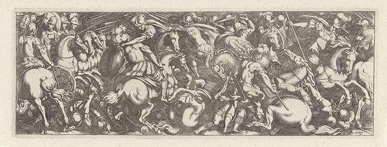 Simon Frisius | Gevecht tussen cavaleristen en infanteristen, Simon Frisius, 1595 - 1628 |