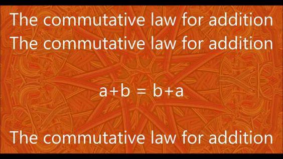 Week 22 -Math- Commutative Law for Addition Chant