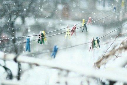 Winter clothes pins