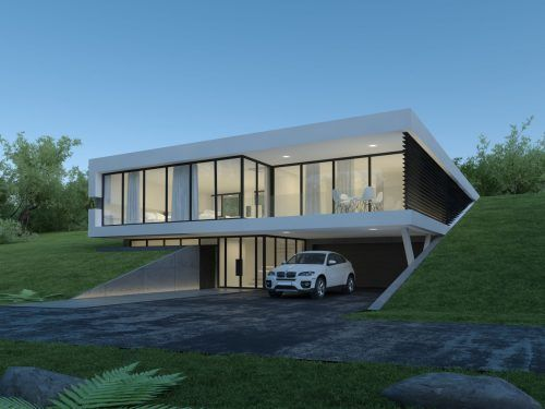 House On Slope In Norway Archlab Minimal House Design Modern Japanese Architecture Modern Architecture Building Contemporary house on slope