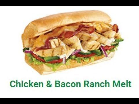 New Subway Sundays Chicken Bacon Ranch Melt Chicken Bacon Ranch Subway Chicken Bacon Subway Chicken