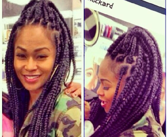 Protective Hairstyles Dutch Braids: Box Braids / Protective Hairstyle / Poetic Justice Braids