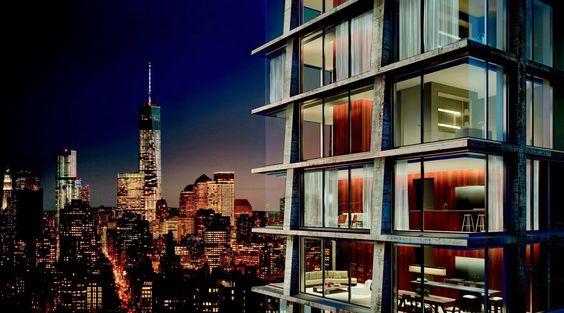 Designed by Herzog & de Meuron,John Pawson in New York,United States Herzog & de Meuronhas teamed up with British designer John Pawsonto design a 28-story tower for Manhattan's Bow...