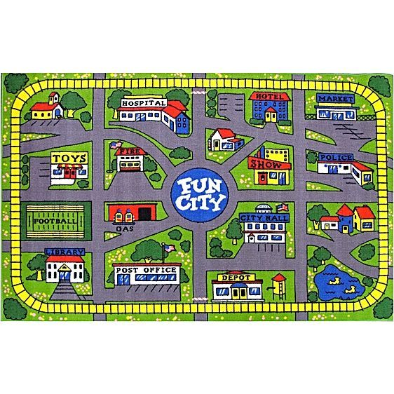 Let Them Roam And Play Around The Streets Of The Colourful And Plush Fun City Road Map Kids Rug From Sunny Rugs Con Imagenes Tapetes Cuyes