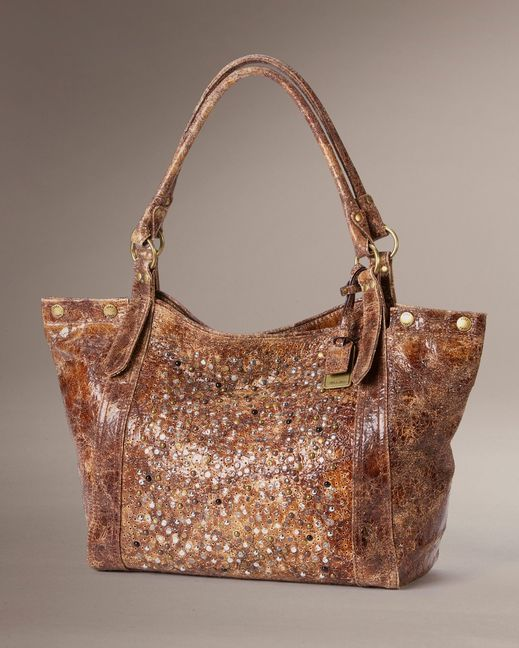 Distressed leather, glitter, and studs all in one handbag! | Country Outfitter