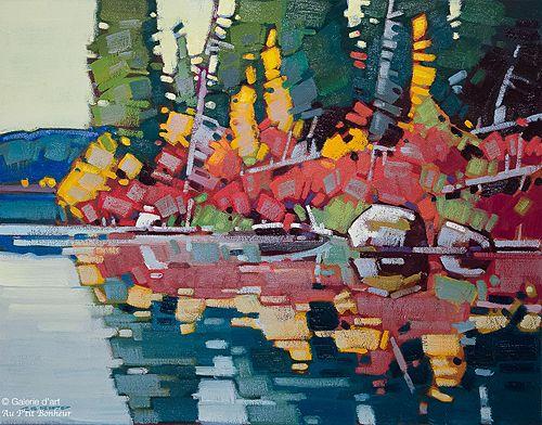 Cameron Bird, 'September Reflections', 22'' x 28'' | Galerie d'art - Au P'tit Bonheur - Art Gallery