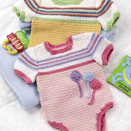 Crochet Baby Onesies Baby Crochet Patterns Pinterest ...