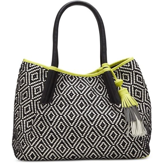 Vince Camuto Harlo Tote (€170) ❤ liked on Polyvore featuring bags, handbags, tote bags, tote handbags, handbags totes, white purse, oversized purse and vince camuto tote