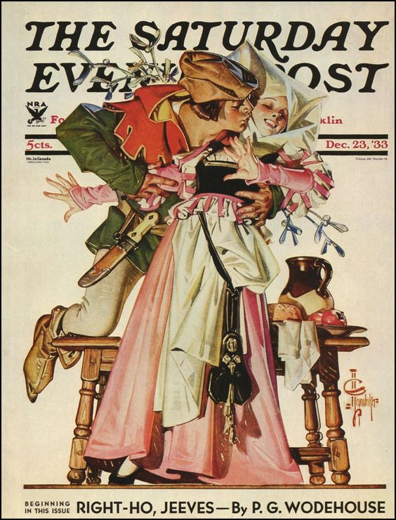 JCLeyendecker Christmas1933 Post cover.