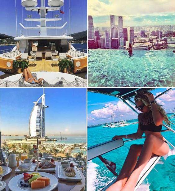 Nếu theo dõi họ qua những bức ảnh trên instagram thì bạn sẽ thấy hội con nhà giàu suất hiện ở mọi nơi. Từ địa trung hải cho đến quốc đảo Singapore hay Dubai và một vùng biển hoang sơ ít người biết đến.