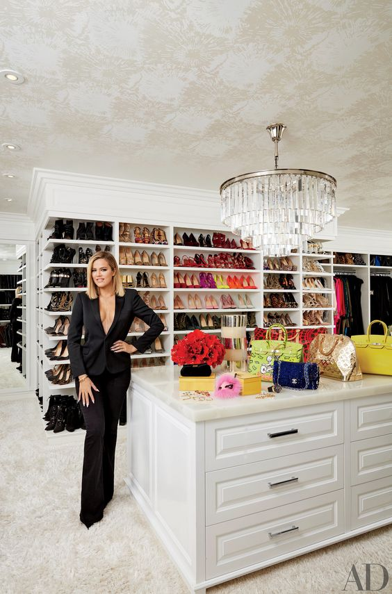 Khloé's crazy-organized master closet might just beat out Mariah   An Unprecedented Look Inside Kourtney and Khloé Kardashian's Jaw-Dropping Homes   POPSUGAR Home