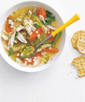 slow cooker chicken and pasta soup