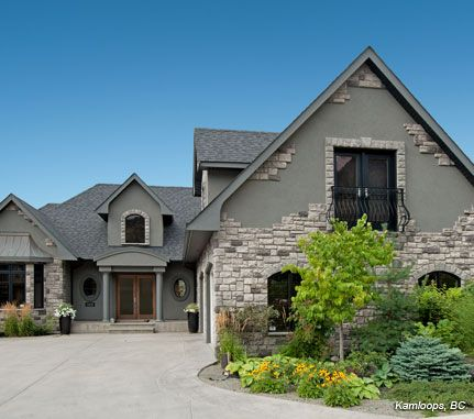 Blue Grey House Exterior Cultured Stone Grey Cobblefield