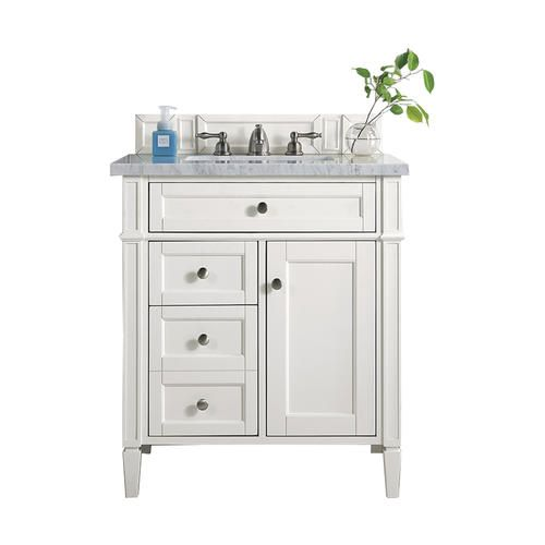 James Martin Brittany 28 75 W X 23 D Cottage White Bathroom Vanity Cabinet Bathroom Vanity Base James Martin Vanity Single Sink Bathroom Vanity