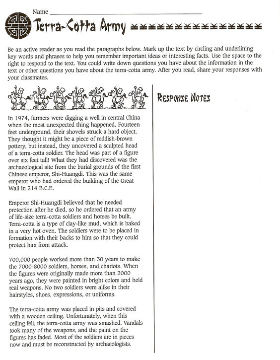 Printables Army Trips Worksheet terra cotta army worksheet terracotta warriors pinterest worksheet