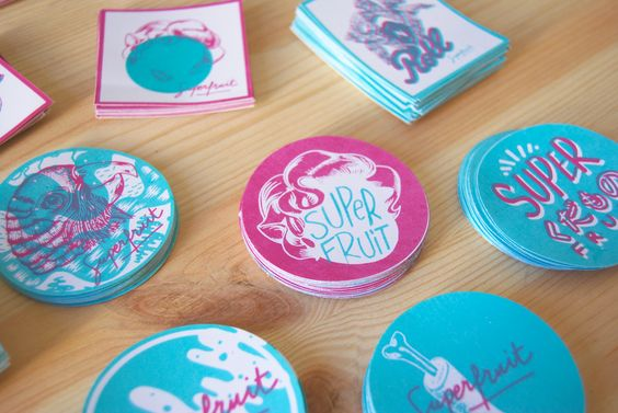 Stickers by SUPERFRUIT-screenprinting-sérigraphie