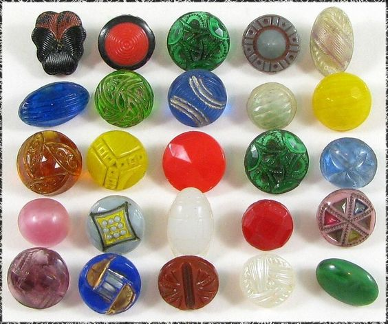 Vintage Diminutive Glass Buttons