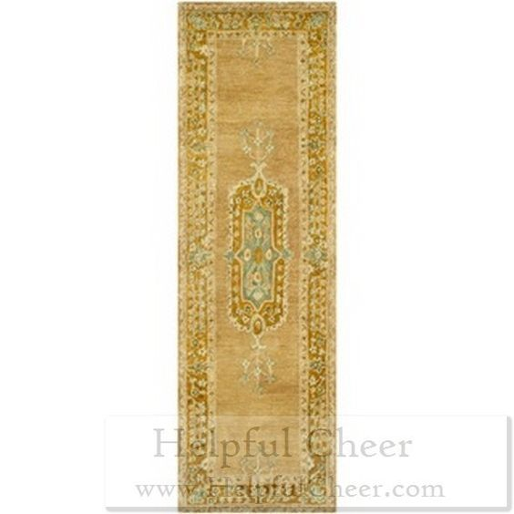 Safavieh Handmade Taj Mahal Antique Rose Cork Wool Rug 2 x27 6 x 12 x27 - at Over