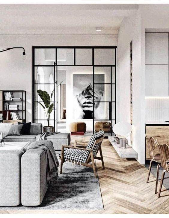 15 Dreamy Minimal Interiors Industrial Living Room Design