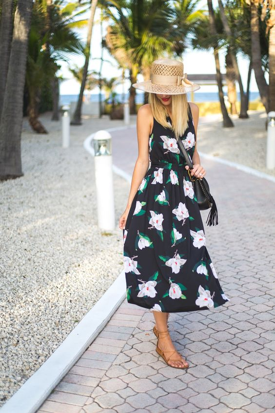 Little Blonde Book by Taylor Morgan | A Life and Style Blog : Floral Midi   Memorial Day Weekend Sales