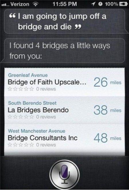Siri finds four bridges