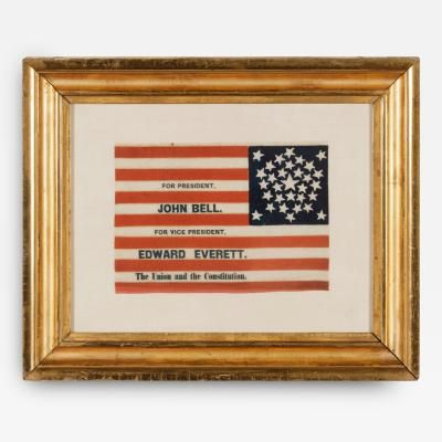 31 Stars In Rare Pentagon Medallion, Made For John Bell's Presidential Campaign, from Jeff. R. Bridgman Antiques.