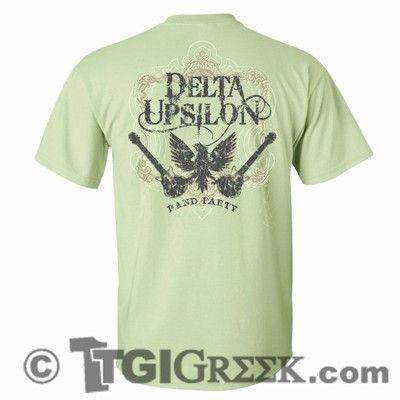 TGI Greek - Delta Upsilon - Band Party - Greek Tees - Greek T-Shirts