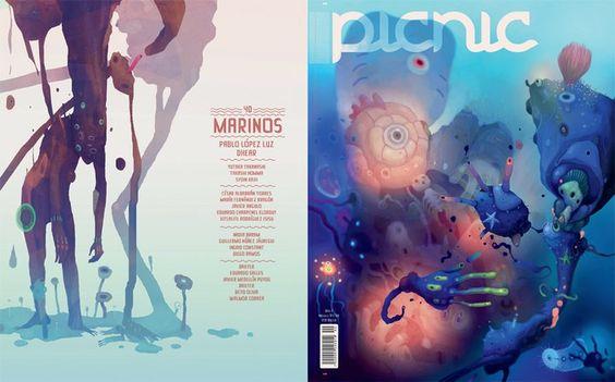 Dhear, ilustrador, Graffiti, Animación, su obra es reconocida mundialmente, ah realizado colaboración con PICNIC para la portada #40 con el tema Marinos.