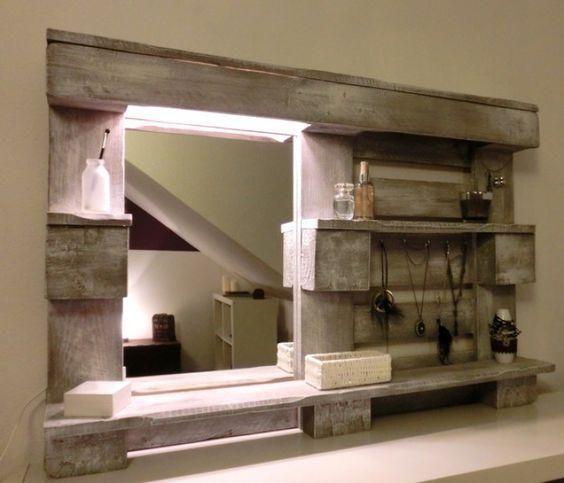 Diy Spiegel Für Das Badezimmer Aus Einer Palette Gebaut | Wohnen ... Diy Badezimmer