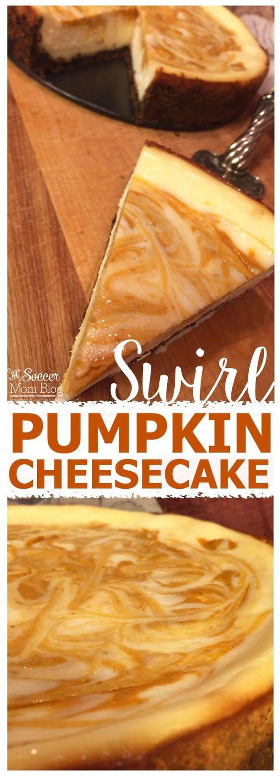 Even non pumpkin-fans will LOVE this Pumpkin Swirl Cheesecake! The perfect Fall…