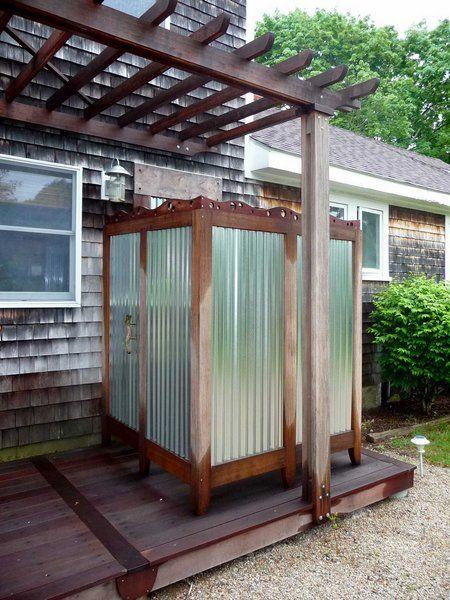 outdoor-shower Outdoor Living Pinterest Duschen, Außenduschen