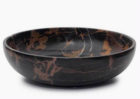 Khan Imports Extra Large Black Marble Bowl Decorative Stone Fruit Or Centerpiece Bowl 16 Inch Marble Bowl Centerpiece Bowl Stone Decor