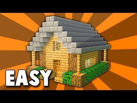 ماين كرافت كيفية بناء بيت خشبي وسهل جدا Youtube Easy Minecraft Houses Minecraft Houses Survival Minecraft House Designs
