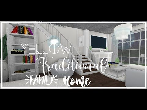 Roblox Bloxburg Yellow Traditional Family Home Youtube Modern Family House Two Story House Design Living Room Design Blue