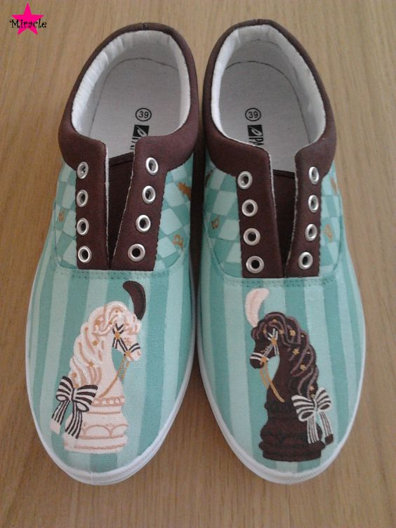 Chess Chocolate inspired shoes
