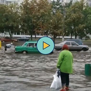 enchente na cidade