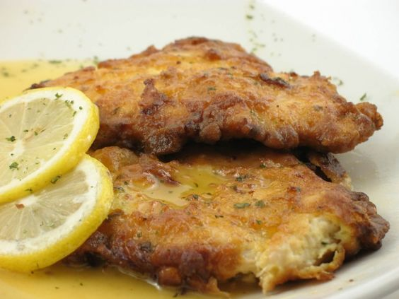 A classic dish made with veal cutlets that are browned and served with a wine and caper sauce