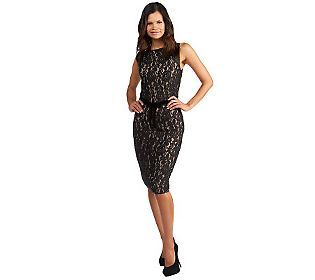 G.I.L.I. Knit Lace Fully Lined Sleeveless Pencil Dress...I just bought this dress and it looks stunning! Can't wait to wear it