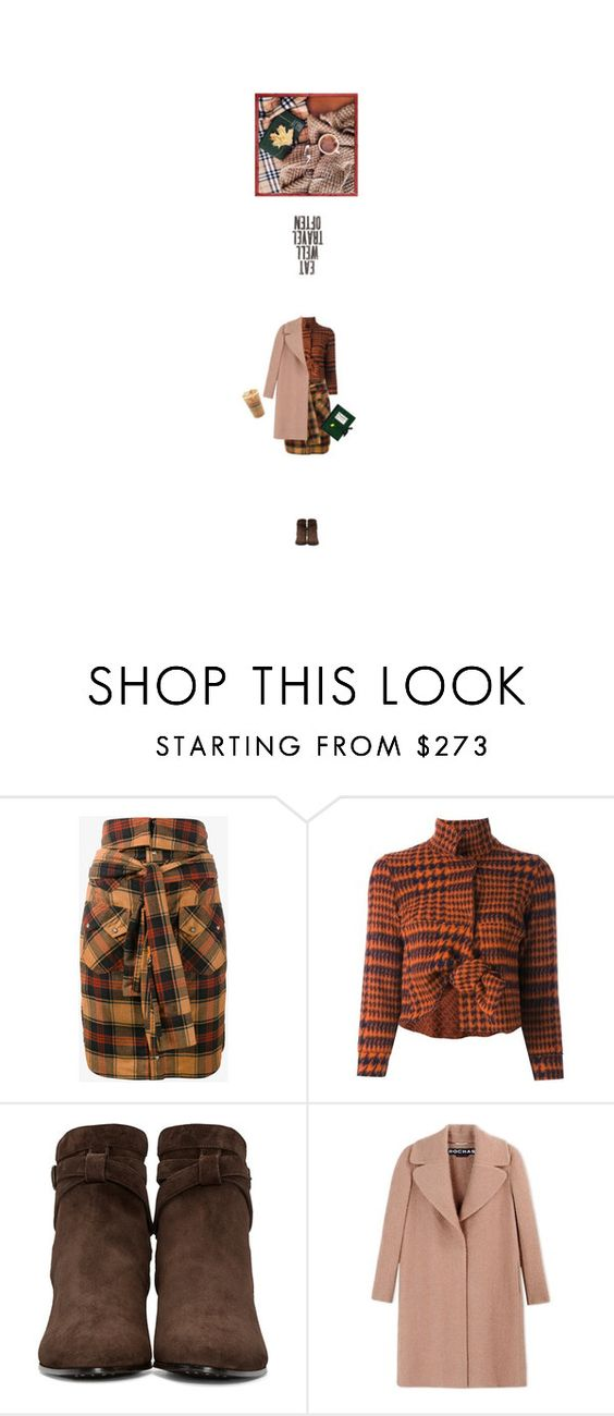 """pumpkin spice & everything nice"" by cultofsharon ❤ liked on Polyvore featuring Faith Connexion, Hache, Yves Saint Laurent, Rochas, Olympia Le-Tan, Fall, contest, plaid, tartan and contestentry"