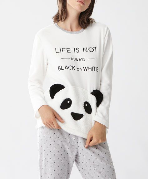 Long panda trousers - New In - SLEEP | Autumn Winter 2016 - Oysho United Kingdom