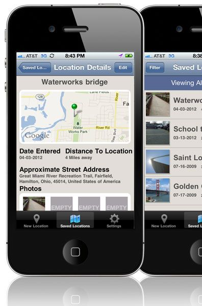 Pocket Scout, $2.99  Catalog and remember shooting locations for the iPhone.