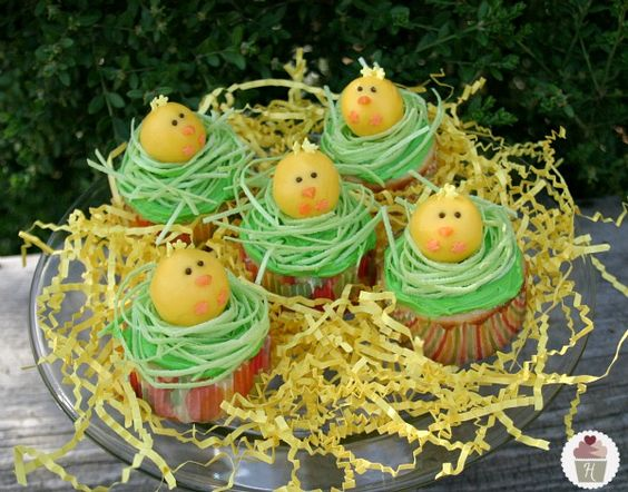 Too cute - Chick Cupcakes