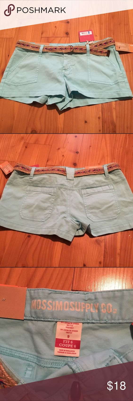 NWT Turquoise Shorts Brand new, with tags! Turquoise shorts with belt included! Pockets in front and back! Mossimo Supply Co Shorts