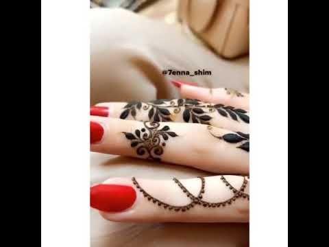 نقش حناء ناعم Youtube Henna Hand Tattoo Hand Tattoos Hand Henna