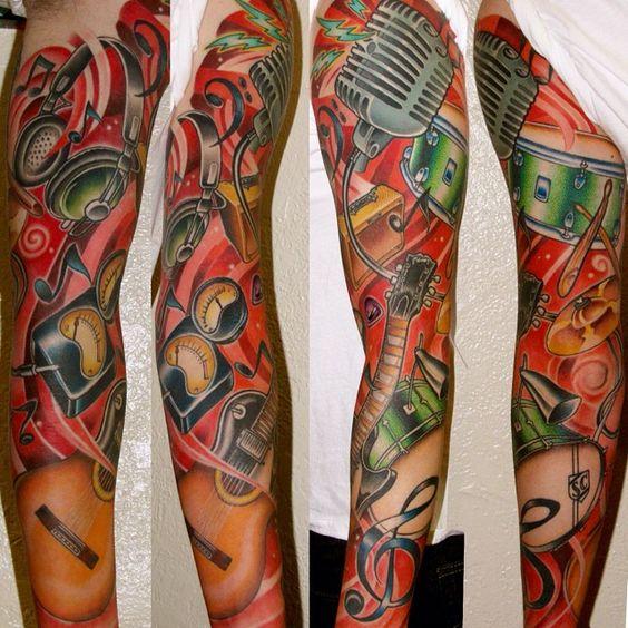 Random hoffanese! @ascension_tattoo #artfink #musictattoo #musicsleeve