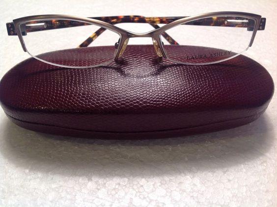 LAURA ASHLEY SHEA Antique Gold WOMEN Eyeglasses DESIGNER Semi Rimless Eyewear #LAURAASHLEY #eyeglasses #antique #vintage # tennis