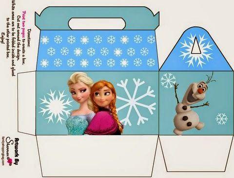 Frozen: Caja para Lunch para Imprimir Gratis.: