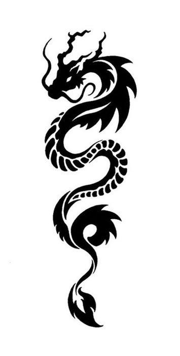 tribal Dragon Tattoo Designs for Arms | Dragon_Tattoo_by_Ridira.jpg