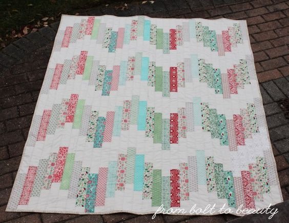 Read the Introduction: Use All the Jelly Rolls!  Fabric Requirements 29 patterned jelly roll strips (I used pieces from Basic Grey's 25th and Pine line and Evergreen line) 1⅔ yards of solid fabric or
